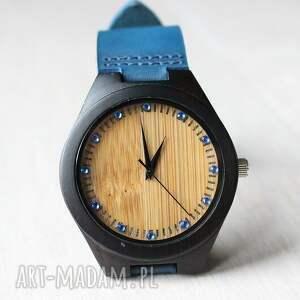 czarne zegarki drewniany zegarek ebony zircon