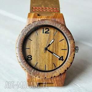 zegarek zegarki brązowe drewniany falcon
