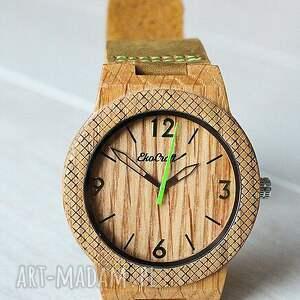 zegarek zegarki zielone drewniany oak winter