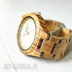 zegarek zegarki beżowe drewniany nightingale