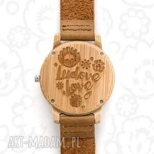 zegarki folk drewniany zegarek kwiaty
