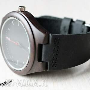 czarne zegarki zegarek drewniany ebony classic
