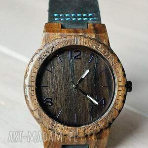 zegarek zegarki niebieskie drewniany hawk