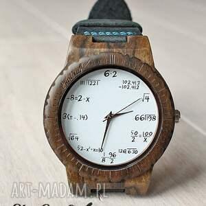 brązowe zegarki matematyczny drewniany zegarek mathematics hawk