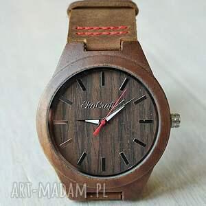 zegarek zegarki brązowe drewniany starling