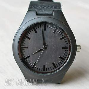 zegarki zegarek drewniany ebony black