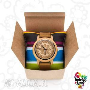 wycinanka zegarki drewniany zegarek folk