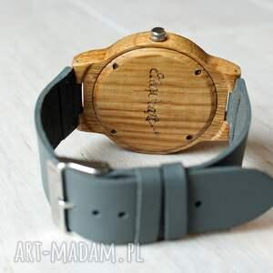 dębowy zegarki szare drewniany zegarek music eagle owl