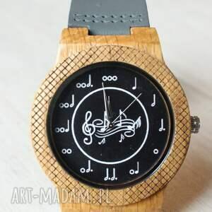 czarne zegarki drewniany zegarek music eagle owl