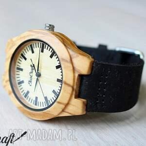 zegarek zegarki czarne drewniany olive wood