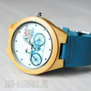 ekologiczny zegarki niebieskie drewniany zegarek bike watch