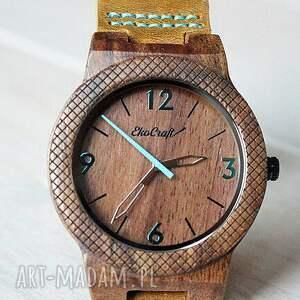 zegarek zegarki turkusowe drewniany eagle