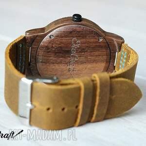 turkusowe zegarki drewniany zegarek walnut winter