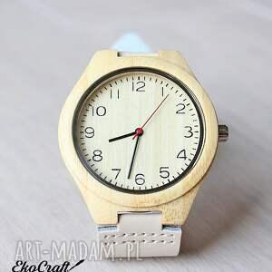 białe zegarki drewniany zegarek nordic
