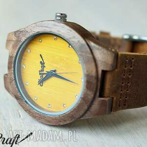 zegarki zegarek drewniany walnut diamond