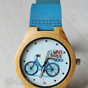brązowe zegarki drewniany zegarek bike watch