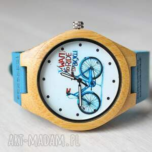 zegarki rower drewniany zegarek bike watch