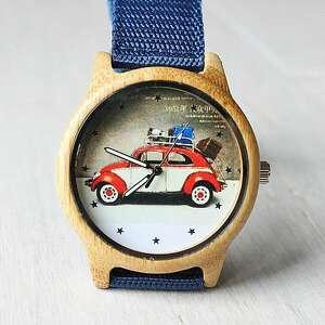 niekonwencjonalne zegarki samochód drewniany zegarek garbus