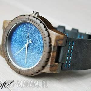 drewniany zegarki niebieskie zegarek blue hawk