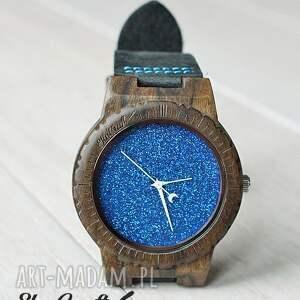 ręcznie robione zegarki drewniany zegarek blue hawk