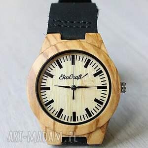 beżowe zegarki drewniany zegarek olive wood