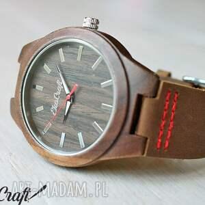 czerwone zegarki drewniany zegarek starling