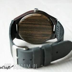 heban zegarki czerwone drewniany zegarek ebony classic