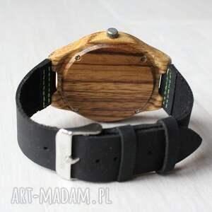 zegarek zegarki brązowe drewniany black-green zebra
