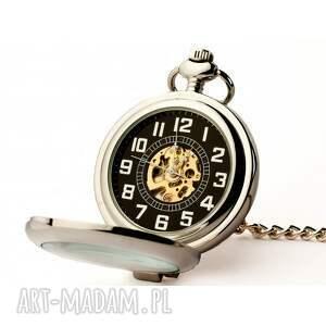 zegarki zegarek elegancja w srebrze (black)
