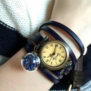 zegarki bransoletka głęboki granat