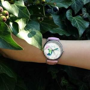 wyjątkowe zegarki zegarek koliber - skórzany z dużą