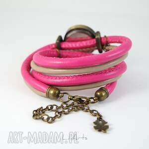 handmade zegarki komplet - piórko - zegarek