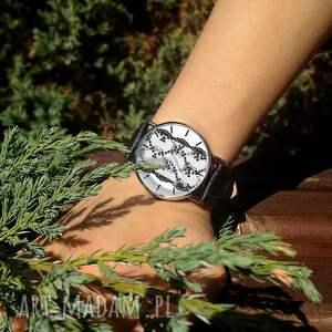 ręczne wykonanie zegarki zegarek koronka - skórzany z dużą