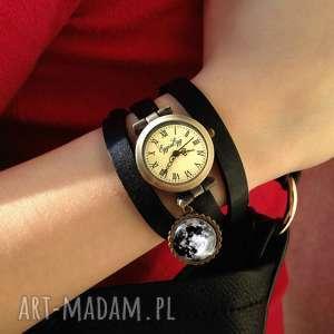 księżyc zegarki białe w pełni - zegarek