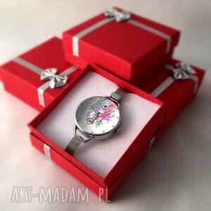 kolorowe zegarki dreamcatcher łapacz snów iii - zegarek z dużą