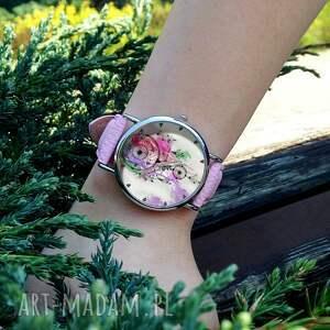 unikatowe zegarki łapacz snów - skórzany zegarek z