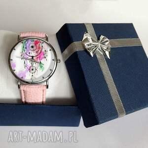 fioletowe zegarki snów łapacz - skórzany zegarek z