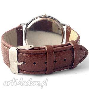 zegarek zegarki zielone las - skórzany z dużą