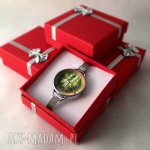 zielone zegarki zegarek las - z dużą tarczką 0119ws
