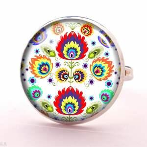 ludowy zegarki ludowe wzorki - zegarek/bransoletka