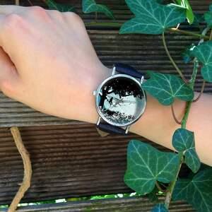 hand-made zegarki zegarek magiczny świat - skórzany