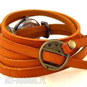 brązowe zegarki bransoletka maki - zegarek/bransoletka na