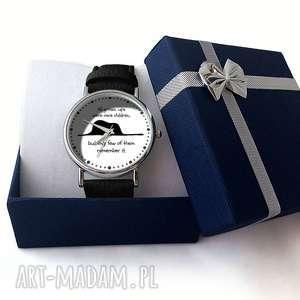 białe zegarki książę mały - skórzany zegarek