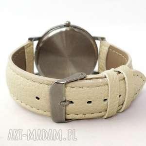 zegarek zegarki czarne mapa świata - skórzany