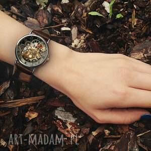 zegarki zegarek mechaniczna jaszczurka - skórzany