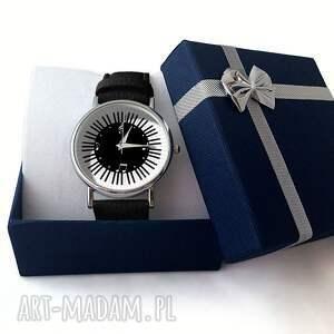 szare zegarki skórzany muzyczny czas - zegarek
