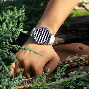 niepowtarzalne zegarki marynarski nadmorski klimat - skórzany zegarek