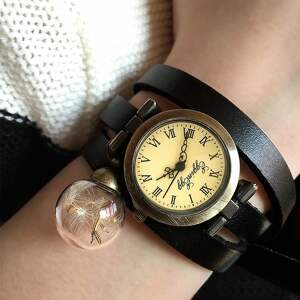 zegarek zegarki brązowe nasiona dmuchawca