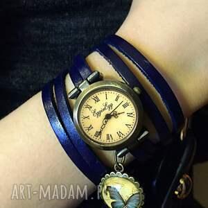 niebieska zegarki spirala - zegarek/