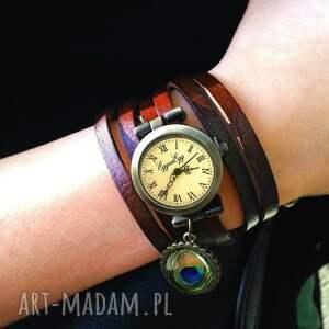 pawie zegarki zielone oko - zegarek / bransoletka